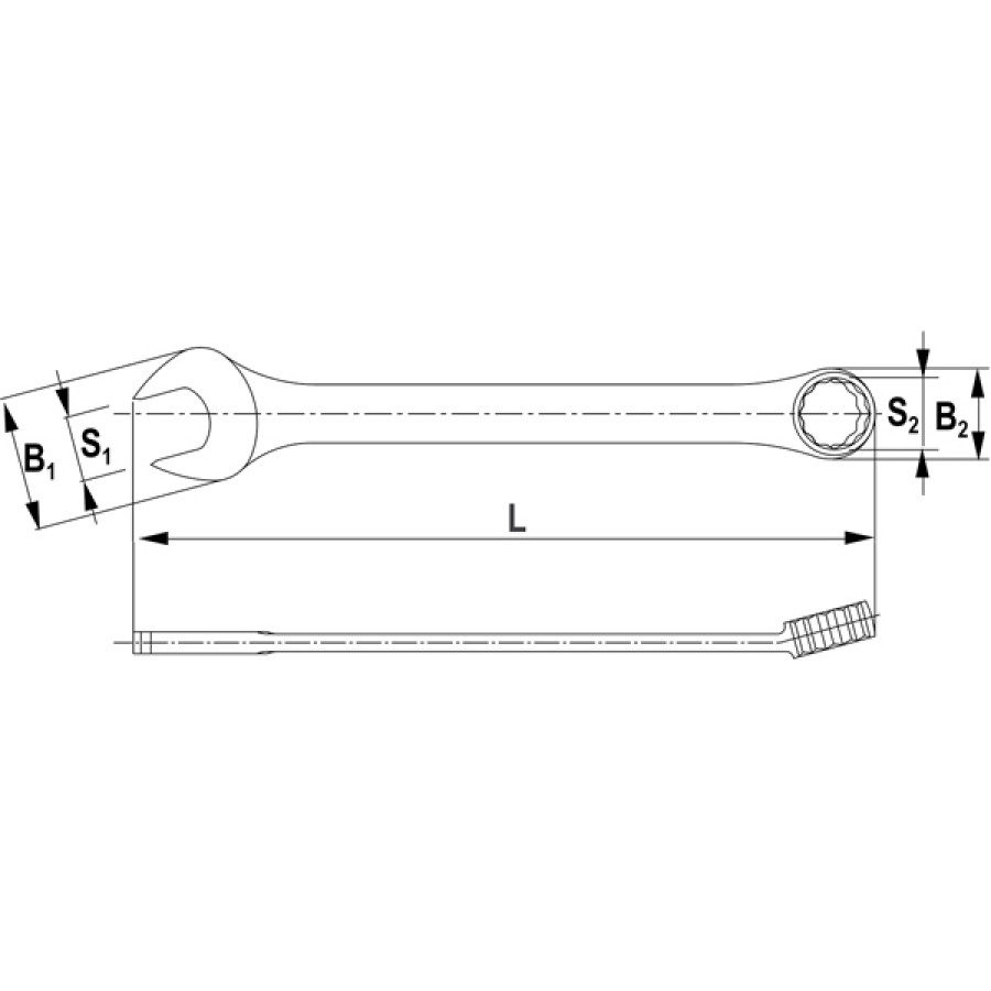 CW00008 Thorvik Ключ комбинированный 8 мм