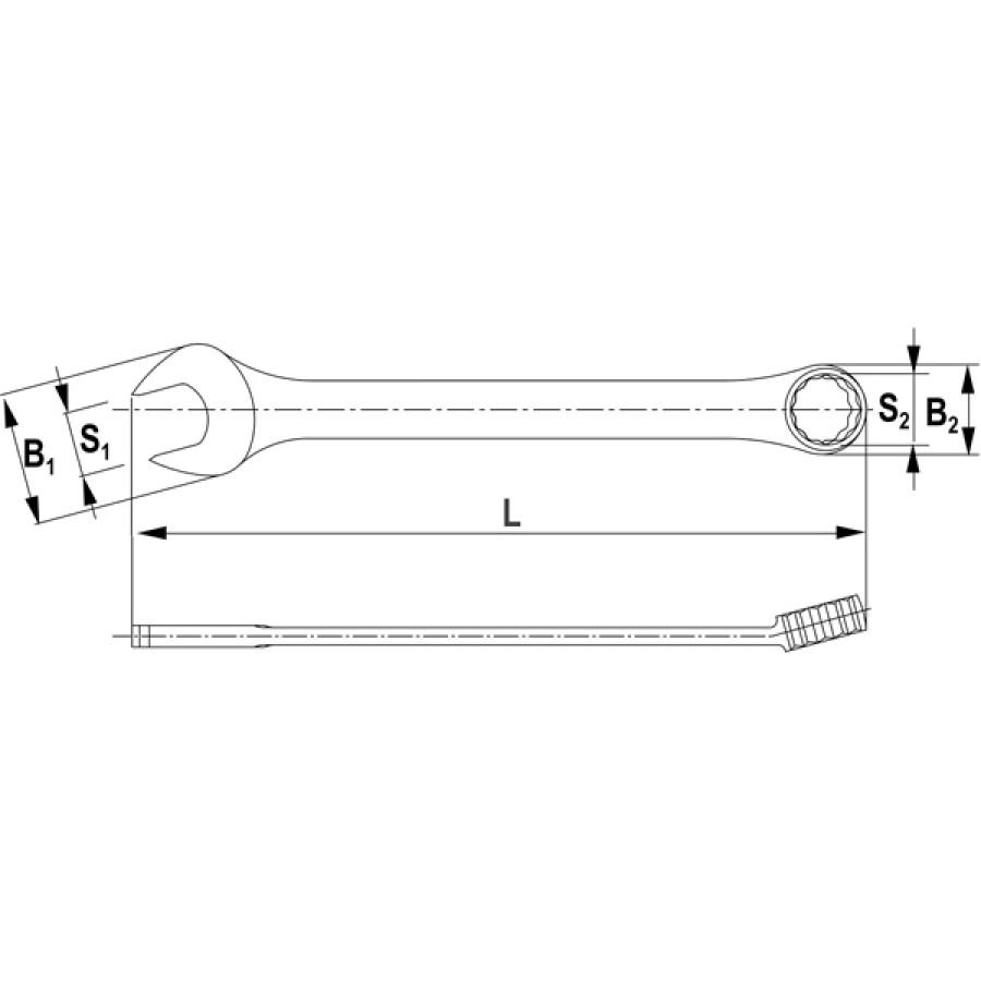 CW00027 Thorvik Ключ комбинированный 27 мм