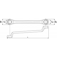 Ключ накидной 75° 14x15 мм