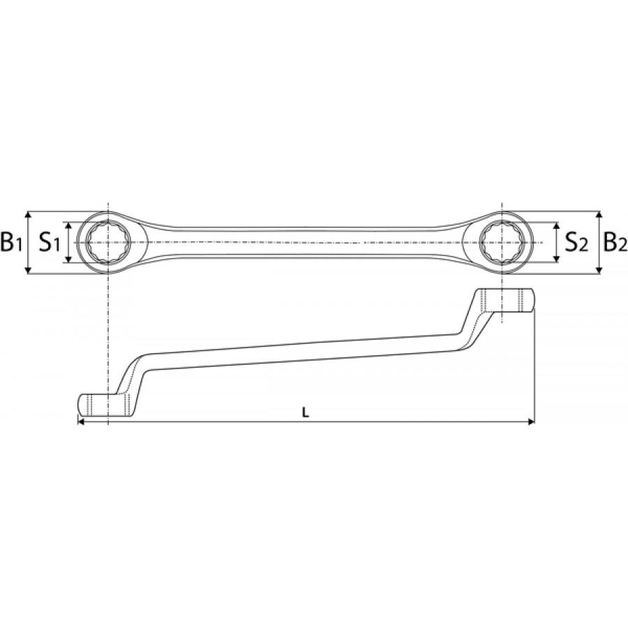 ORW1415 Thorvik Ключ накидной 75° 14x15 мм