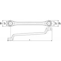 Ключ накидной 75° 24x27 мм
