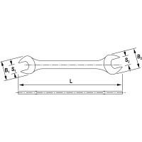 Набор ключей рожковых на пластиковом держателе 6-22 мм 6 предметов