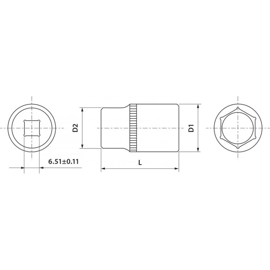 "FS01410 Thorvik Головка торцевая 1/4"" 10 мм"