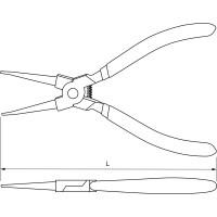Щипцы для стопорных колец «прямой сжим» 180 мм