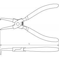 Щипцы для стопорных колец «загнутый сжим» 180 мм