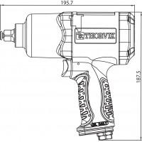 "AIW1268 Гайковерт пневматический 1/2"" 7500 об/мин 680 Nm"