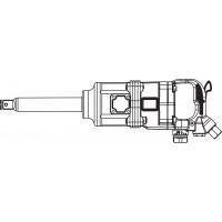 """AIWS125 Гайковерт пневматический 1"""" 4200 об/мин 2180 Nm"""