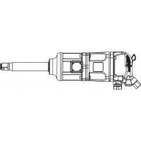 """AIWS124 Гайковерт пневматический 1"""" 3600 об/мин 3260 Nm"""