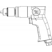 RAD1018 Дрель пневматическая с реверсом 1800 об/мин патрон 10 мм