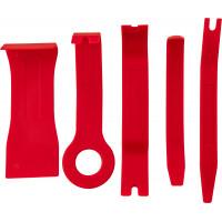 Набор приспособлений для демонтажа декоративных панелей салона автомобиля 5 предметов